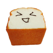Great Deal(TM) 1 Kawaii Toast Squishy Expression Card Cellphone Holder Hand Pillow Toy
