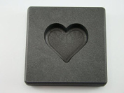 60ml Valentines Day Heart Gold High Density Graphite Mould 30ml Silver Necklace