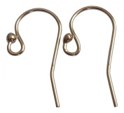 14/24 Gold Filled Heavy Earwire with 2mm Ball End 5 Pairs 12.1x20mm, 21gauge Wire