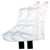 Highland Pipers Drummer Kilt Spats Scottish Kilt Spat with 8 White Buttons