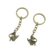 1 PCS Keyrings Keychains Key Ring Chains Tags Jewellery Findings Clasps Buckles Supplies L3WB2 Taurus Cow