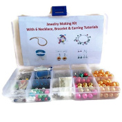 DIY Jewellery MakingJewelry Making Kit For Beginners with 6 jewellery tutorials covering Wire Jewellery, Stringing, Beading techniques