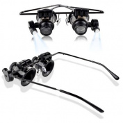 Magnifier Magnifying Eye Glasses Loupe Lens Jeweller Watch Repair LED Light