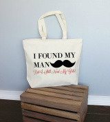 I Found My Man but I Still Need My Girls Xl Tote in Natural Colour