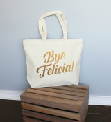 Bye Felicia Gold Xl Tote in Natural Colour
