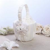 KateMelon Fantasy Bloom Wedding Flower Basket, Ivory