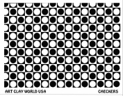 Art Clay World USA Low Relief Texture Checkers - 1 Pc.