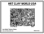Art Clay World USA Low Relief Texture Commas - 1 Pc.