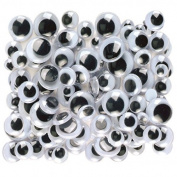 Creativity Street Peel and Stick Wiggle Eyes Assorted, 7mm to 15mm, Black, 100-Pack by Creativity Street