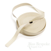 100% Cotton Cream-Coloured Double Fold Bias Tape, 27 Yard Roll, Made in Italy