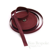 100% Cotton Dark Red Double Fold Bias Tape, 27 Yard Roll, Made in Italy