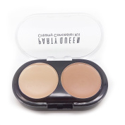 Ucanbe 2 Colour Camouflage Makeup Eye Concealer Palette with Press Powder,#2