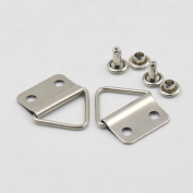 """80 Sets 22.5mm 1"""" Triangle ring Picture Frame Hanger Cap Stud Small Strap Nickle"""