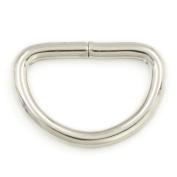 """100 Pcs Non Welded Metal Flat D Dee Rings D-rings 1/2"""" 12mm Webbing D Buckles Bag Nickle"""