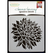 Donna Downey Signature Stencils 22cm x 22cm -Big Peony Blossom by Donna Downey Stencils