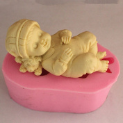 SDONG Sleeping Baby Boy S347 Craft Art Silicone Soap mould Craft Moulds DIY Handmade soap moulds