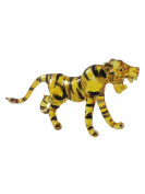 TINY CRYSTAL Tiger HAND BLOWN CLEAR GLASS ART Tiger FIGURINE ANIMALS COLLECTION GLASS BLOWN FBM