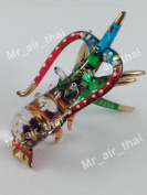 TINY CRYSTAL LOBSTER HAND BLOWN CLEAR GLASS ART LOBSTER FIGURINE ANIMALS COLLECTION GLASS BLOWN FBM