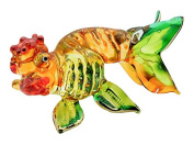 TINY CRYSTAL FISH HAND BLOWN CLEAR GLASS ART FISH FIGURINE ANIMALS COLLECTION GLASS BLOWN FBM 002