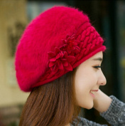 NEW Winter Warm Solid Colour Angora Braided Baggy Crochet Knitted Beret Hat Skull Hat for Women Lady Girls