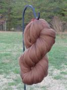 Shep's Milk Chocolate Brown Merino Wool Top Roving Fibre Spinning, Felting Crafts USA