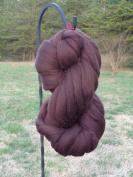 Shep's Dark Chocolate Brown Merino Wool Top Roving Fibre Spinning, Felting Crafts USA