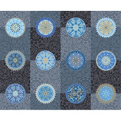Desert Moon Blue Medallions Cotton Quilt Fabric Lonni Rossi
