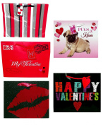 Valentine Gift Bags Small 4 x 17cm x 22cm , Assorted - Styles Vary