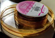 RibbonSense Gold Pattern 1.6cm . x 3 yards 100% Polyester Ribbon - Great for Any Occasion!