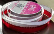 RibbonSense Red and White Pattern 2.2cm . x 3 yards 100% Polyester Ribbon - Great for Any Occasion!