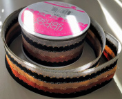 RibbonSense Brown Retro Pattern 3.8cm . x 3 yards 100% Polyester Ribbon - Great for Any Occasion!