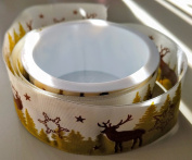 RibbonSense Deer Pattern 3.8cm . x 3 yards 100% Polyester Ribbon - Great for Any Occasion!