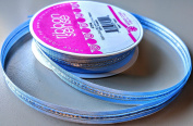RibbonSense Light Blue Stripe Pattern 1.6cm . x 3 yards 100% Polyester Ribbon - Great for Any Occasion!