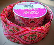 RibbonSense Pink Retro Pattern 3.8cm . x 3 yards 100% Polyester Ribbon - Great for Any Occasion!