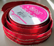 RibbonSense Red Royal Pattern 2.2cm . x 3 yards 100% Polyester Ribbon - Great for Any Occasion!