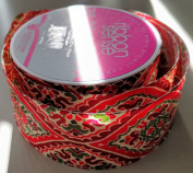 RibbonSense Retro Red Pattern 3.8cm . x 3 yards 100% Polyester Ribbon - Great for Any Occasion!