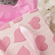 12 Heart Gift Bags - Pink Sweetheart Embossed Euro Tote