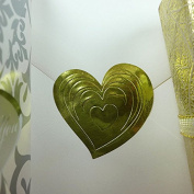 Premium Gold Embossed Heart Sticker Seal Labels