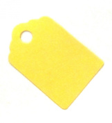 25 Small Yellow Tags / Hang Tags / Wedding Tags 42mm x 28mm