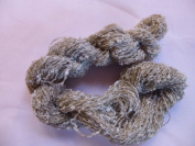Novelty Light Grey Beige Mini Loop Boucle Fingering Yarn
