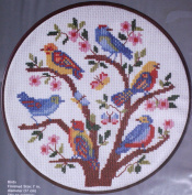 "WonderArt 18cm Counted Cross Stitch Hoop Kit - ""Birds"""