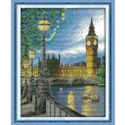 ZMZ Cross Stitch Kit London bell tower 11CT Stamped - 42cmx52cm