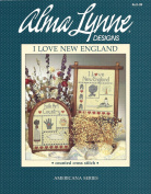 Alma Lynn Designs Counted Cross Stitch Brochure I Love New England and Folk Art Country ALX-39