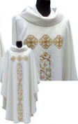 Embroidered White Chasuble