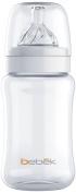 Bebek Classic Bottle with Senseflo Silicone Nipple, Clear, 270ml