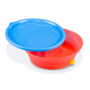 Booginhead Sticky Bowl, Blue/Red