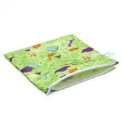 Bumkins Waterproof Snack Bag, Dinos, Large