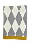 DARZZI Diamonds Baby Blanket, Grey/Natural