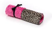 Elonka Nichole Baby Girl Receiving Blanket, Cheetah Print and Hot Pink