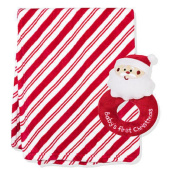 Nursery Rhyme Two-piece Candy Cane Stripe Blanket and Rattle Set
